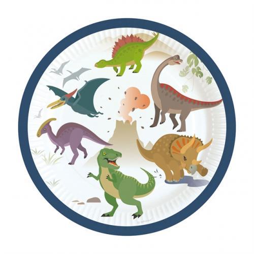 Pappersassietter Happy Dinosaur