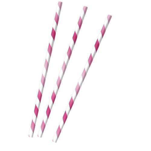 Papperssugrör - Hot Pink