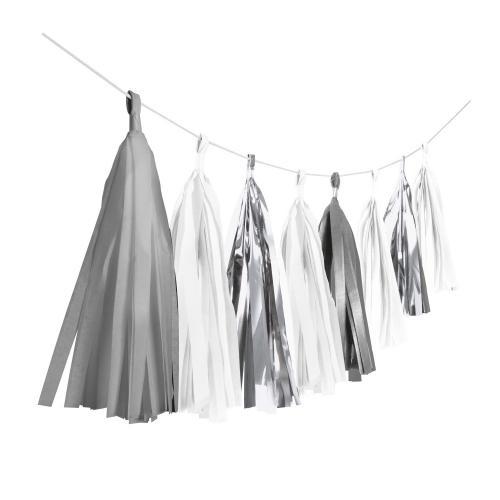 Tassel / tofs girlang - Silver Dream