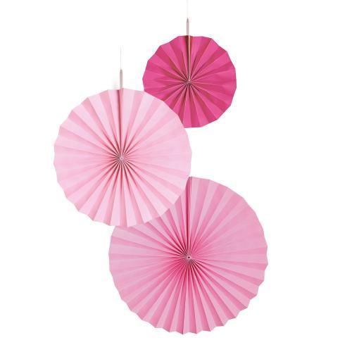 Dekorationsrosetter Hot Pink