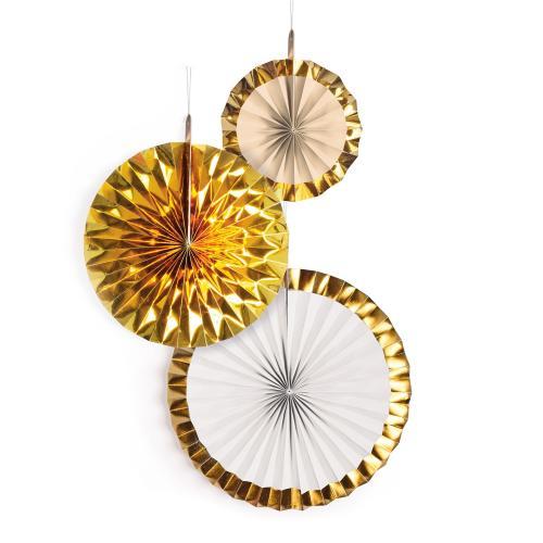 Dekorationsrosetter Gold Brush