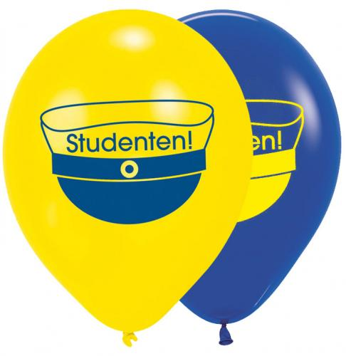 "11"" (28 cm) Studenten gul och blå"