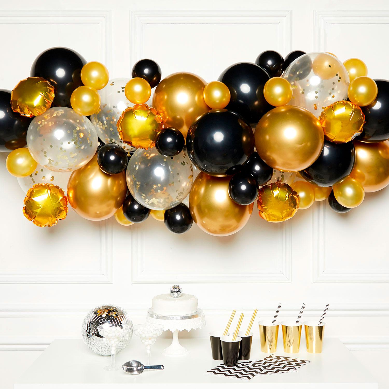 DIY Ballonggirlang Svart/Guld