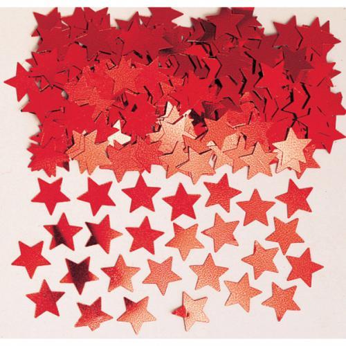 Konfetti Röda Stjärnor