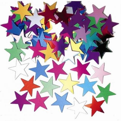 Konfetti - stora stjärnor