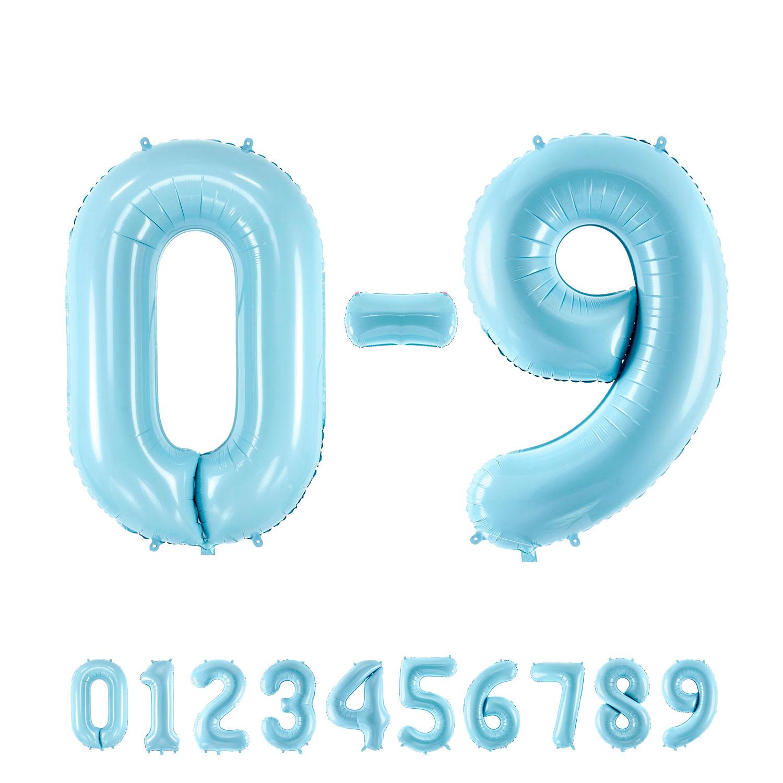 "34"" (86 cm) Siffror Ljusblå"