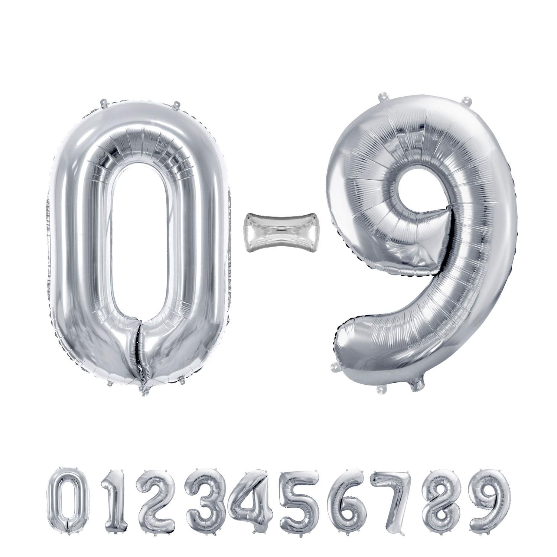"""34"""" (86 cm) Siffror Silver"""