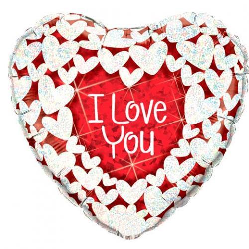"36"" (90 cm) Hjärta i Love You"