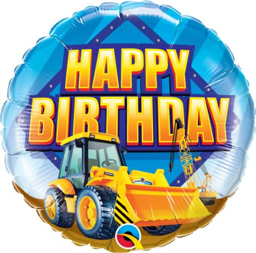 "18"" (46 cm) Happy Birthday Hjullastare"