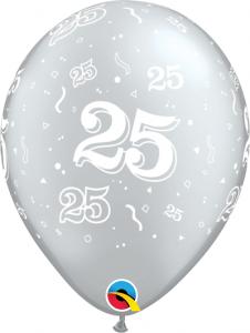 """11"""" (28 cm) 25 Årsballong"""