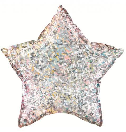 """36"""" (90 cm) Stjärna Holografisk Silver"""