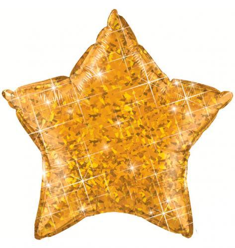 "20"" (51 cm) Stjärna Holografisk Guld"