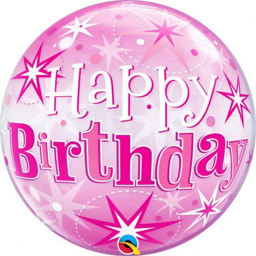 "22"" (55 cm) Rosa Happy Birthday"