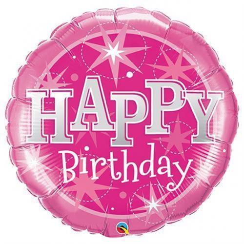 """36"""" (90 cm) Birthday Pink Sparkle"""