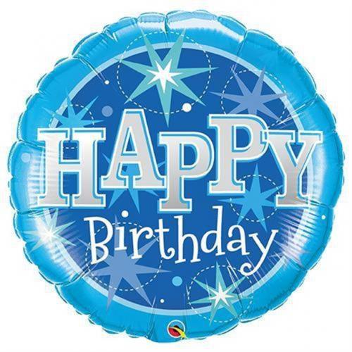 "36"" (90 cm) Birthday Blue Sparkle"