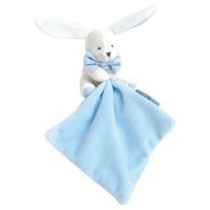 Kanin med blå snuttefilt - 11 cm - i fin presentlåda