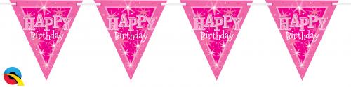 Flaggspel Happy Birthday Rosa