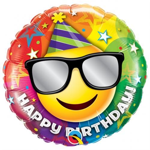 "18"" (46 cm) Happy Birthday Smiley"