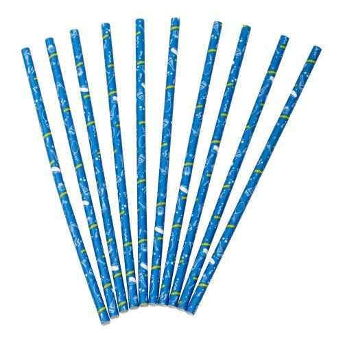 Blå sugrör med studentmotiv