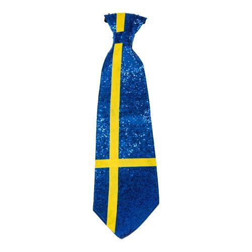 Glittrig slips med svenska flaggan