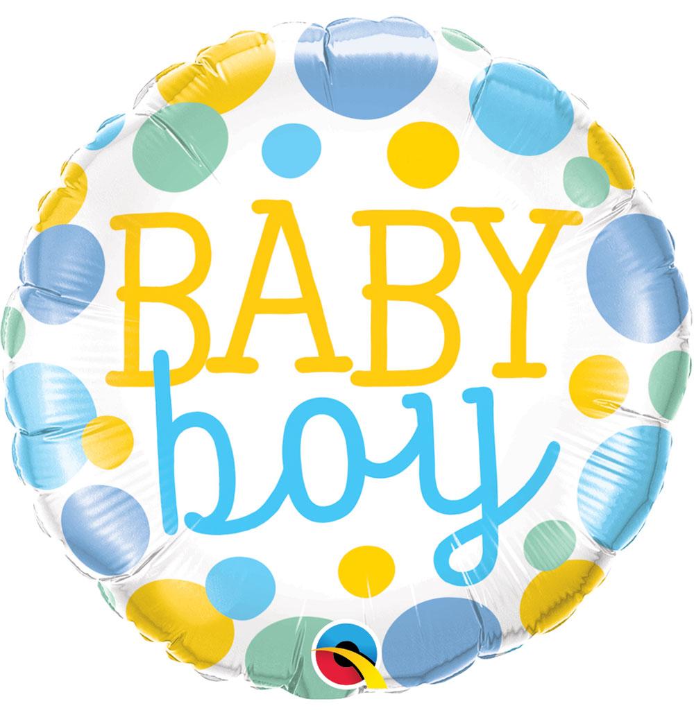 "18"" (46 cm) Baby Boy Dots"
