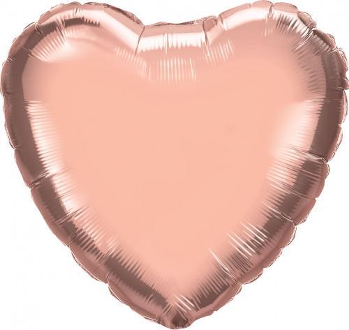 """18"""" (46 cm) Hjärta Rosé"""