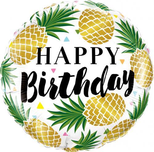 "18"" (46 cm) Happy Birthday Ananas"