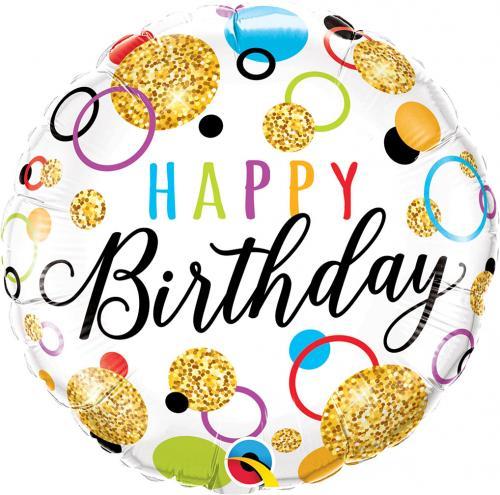 """18"""" (46 cm) Happy Birthday"""