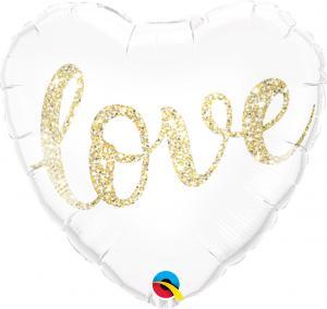"""18"""" (46 cm) Hjärta Love Glitter"""