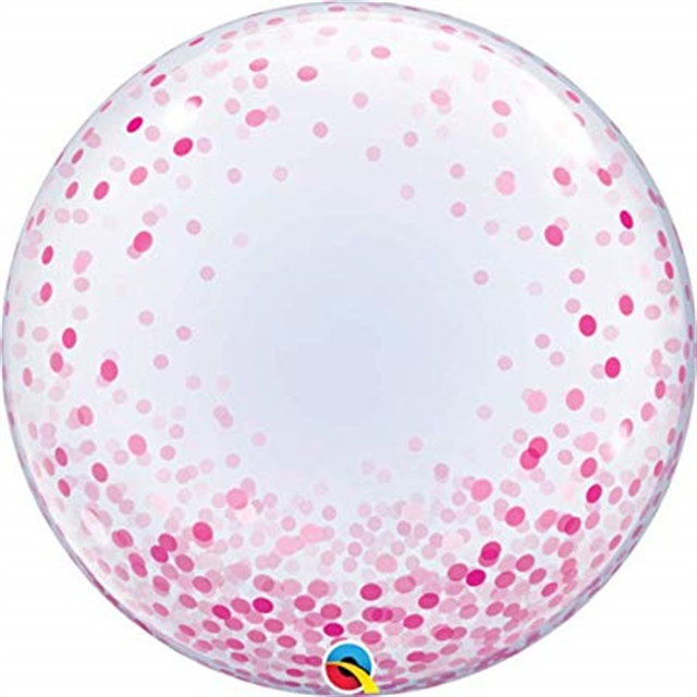 """24"""" (60 cm) Decobubbla Pink Confetti Dots"""
