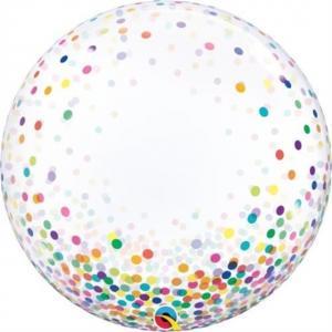 """24"""" (60 cm) Decobubbla Colorful Confetti Dots"""