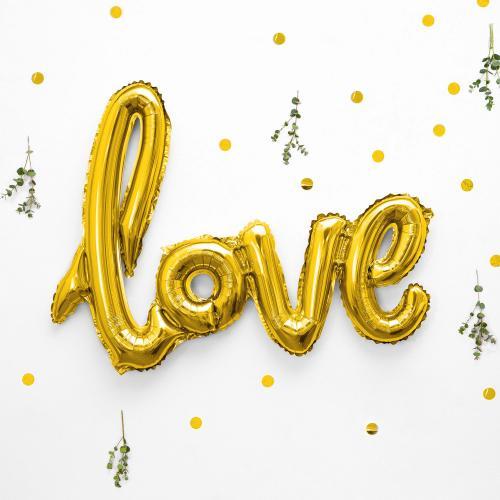 Love Skrivstil Guld