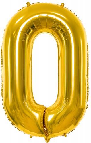 """34"""" (86 cm) Heliumfyllda Siffror Guld"""