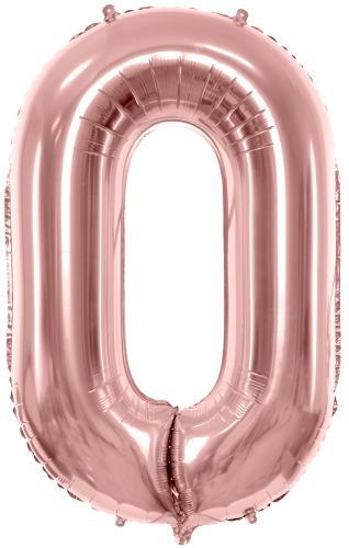 "34"" (86 cm) Heliumfyllda Siffror Rosé"