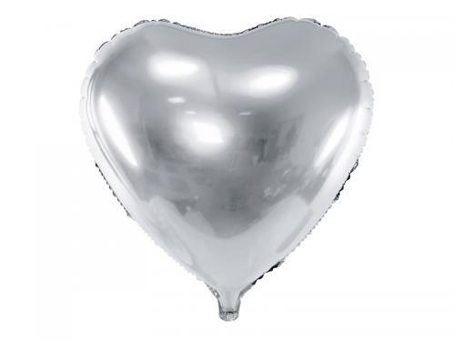 """24"""" (61 cm) Hjärta Silver"""