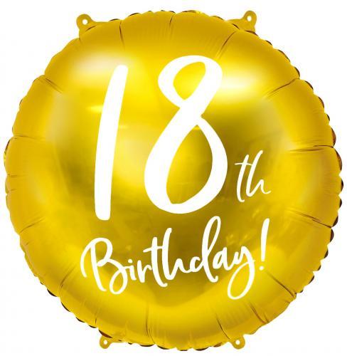 """18"""" (45 cm) 18-årsdagen Guld"""