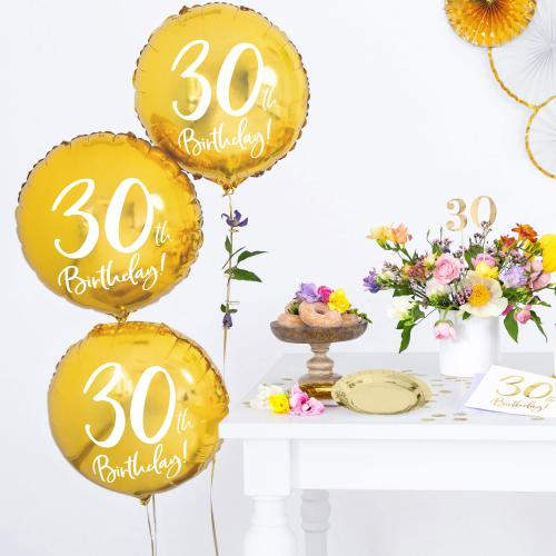 """18"""" (45 cm) 30-årsdagen Guld"""