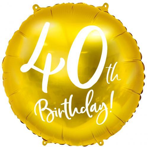 """18"""" (45 cm) 40-årsdagen Guld"""
