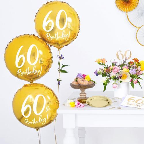 """18"""" (45 cm) 60-årsdagen Guld"""