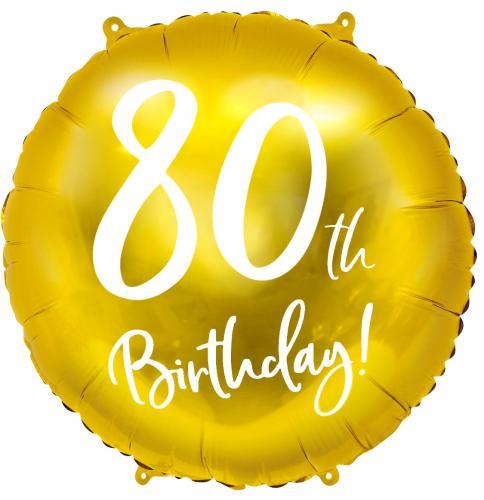 """18"""" (45 cm) Födelsedag 80 år, guld"""