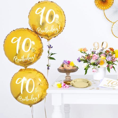 """18"""" (45 cm) 90-årsdagen Guld"""