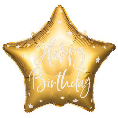 "16"" (40 cm) Happy Birthday Stjärna guld"