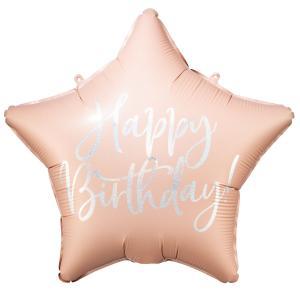 "16"" (40 cm) Happy Birthday Stjärna rosa"