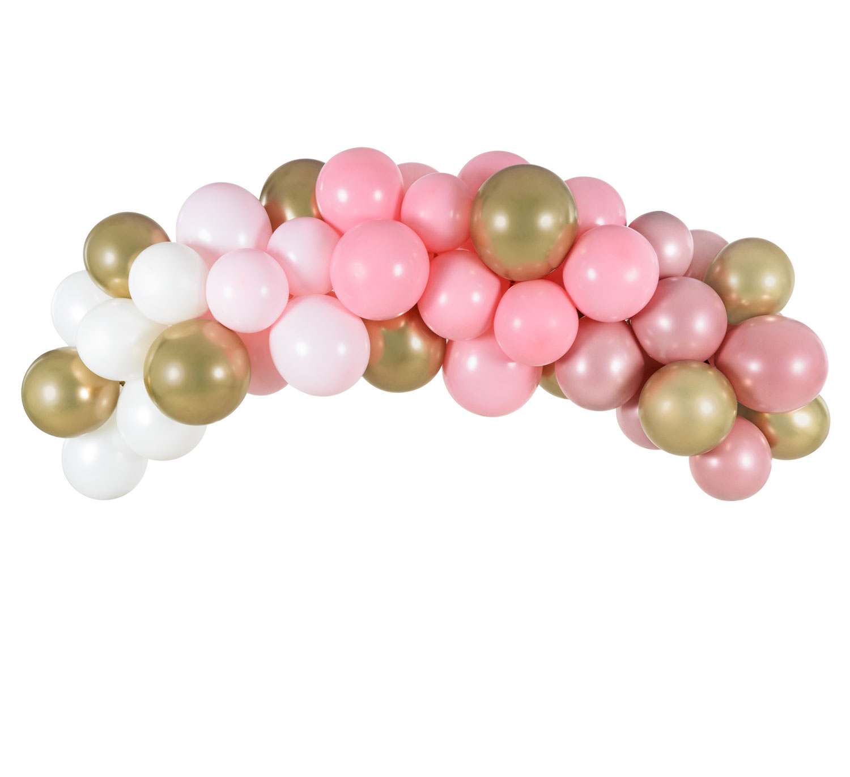 DIY Ballonggirlang Rosa/guld