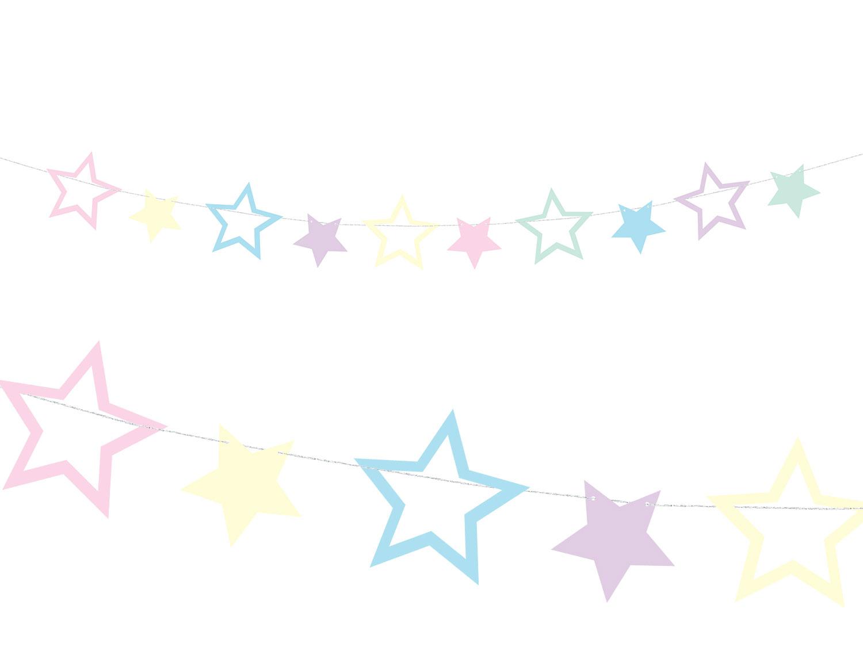 Girlang med pastellstjärnor