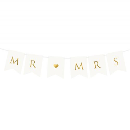 Banner Mr [hjärta] Mrs