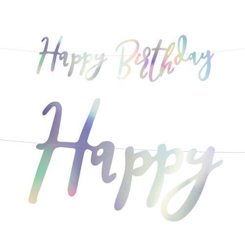 Happy Birthday Banner Skimrande