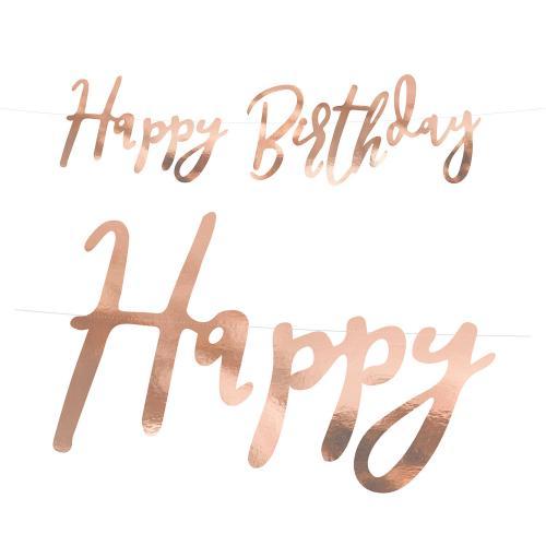 Happy Birthday Banner Rosé