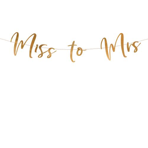 "Banner ""Miss to Mrs"" Roséguld"