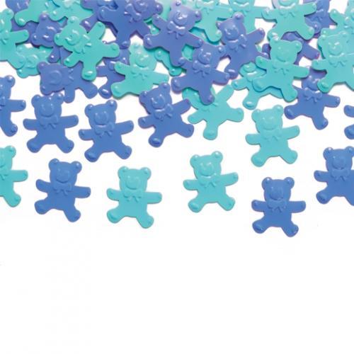 Konfetti Nallebjörnar blå/grön